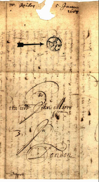 BISHOP MARKS, British postmarks 1661 1800 with examples of actual